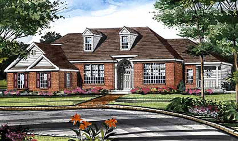 Arts and Crafts House Plan Front Image of House 016D-0065
