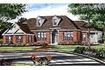 Ranch House Plan Front Image of House - 016D-0065 | House Plans and More