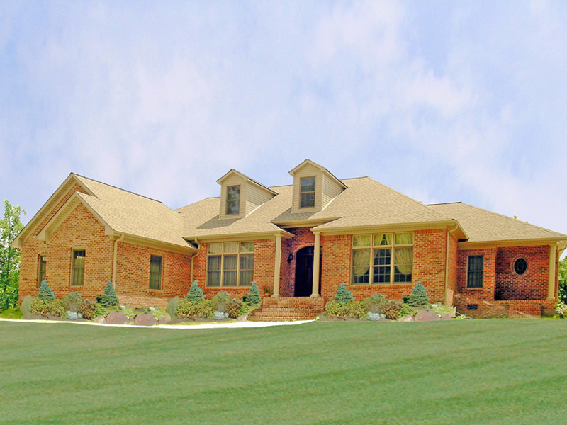 Ranch House Plan Front Photo 01 016D-0065