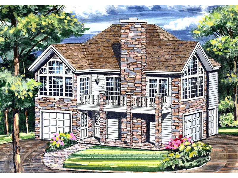 Vacation House Plan Front Image - 016D-0078 | House Plans and More