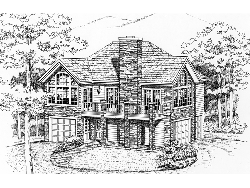 Traditional House Plan Front Image of House - 016D-0078 | House Plans and More