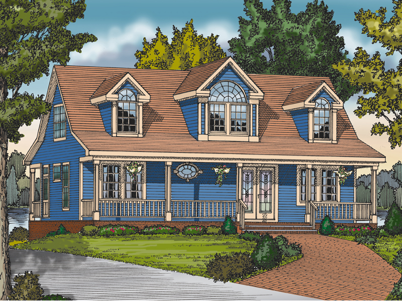 Country Acadian Design With Numerous Ornate Windows