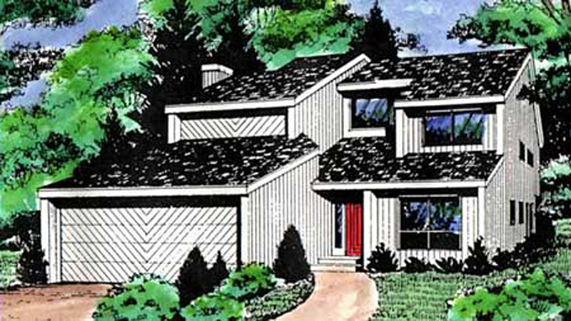 Modern House Plan Front Image of House - 016D-0085 | House Plans and More