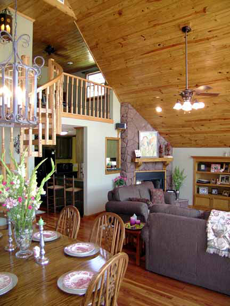 A-Frame House Plan Dining Room Photo 01 - 016D-0087 | House Plans and More