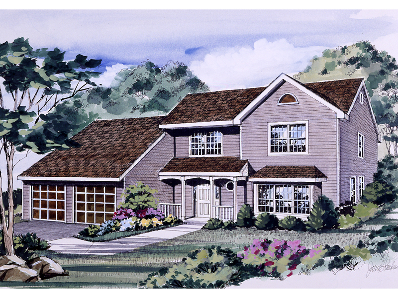 Country House Plan Front of Home - 016D-0088 | House Plans and More