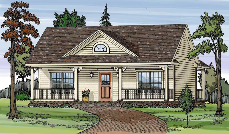 Unique Dormer Window Adds Character To The Exterior Of This Home Plan