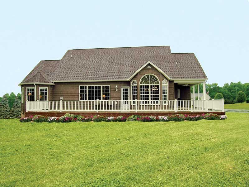 Traditional House Plan Rear Photo 01 016D-0095