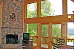 Mountain Home Plan Great Room Photo 02 - 016D-0102 | House Plans and More