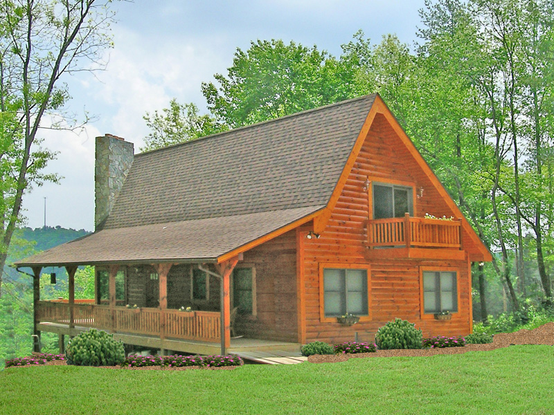 Mountain Home Plan Side View Photo 01 016D-0102
