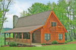 Cabin and Cottage Plan Side View Photo 01 - 016D-0102 | House Plans and More