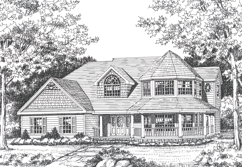 Victorian House Plan Front Image of House - 016D-0104 | House Plans and More