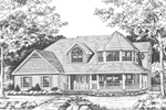 Farmhouse Plan Front Image of House - 016D-0104 | House Plans and More