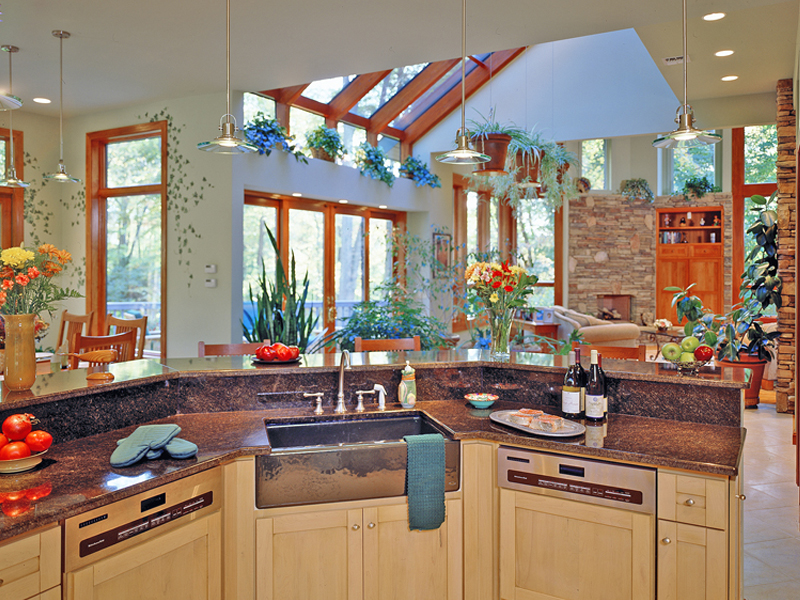 Prairie Style Floor Plan Kitchen Photo 01 016S-0001