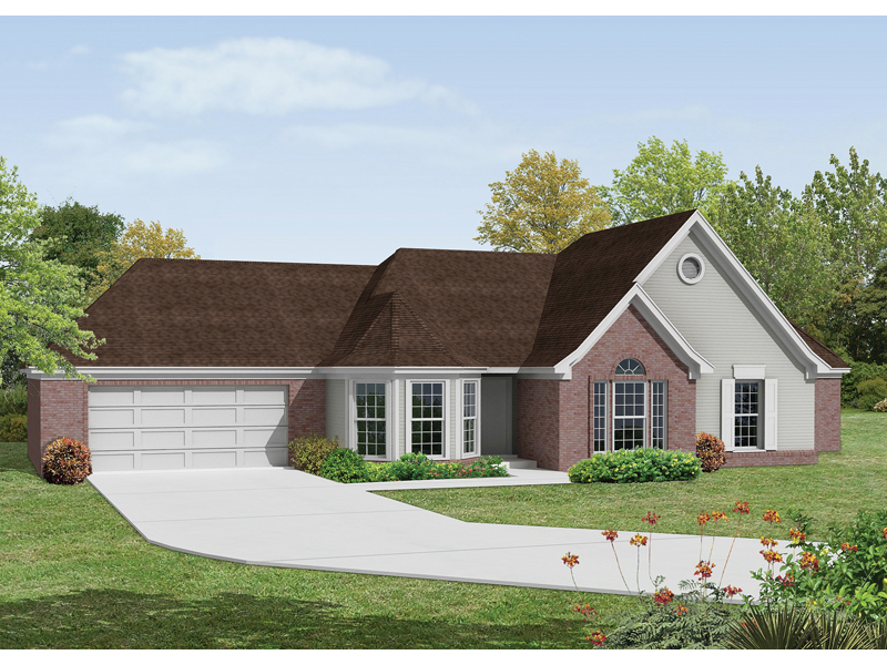 Danville southern ranch home plan 018d 0006 house plans for Southern home and ranch