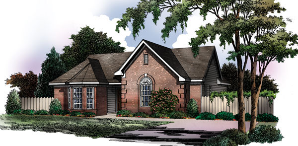 Ranch House Plan Front of Home - 019D-0001 | House Plans and More