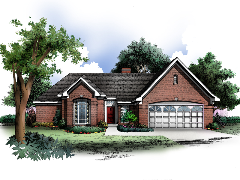 Ranch House Plan Front of Home - 019D-0005 | House Plans and More