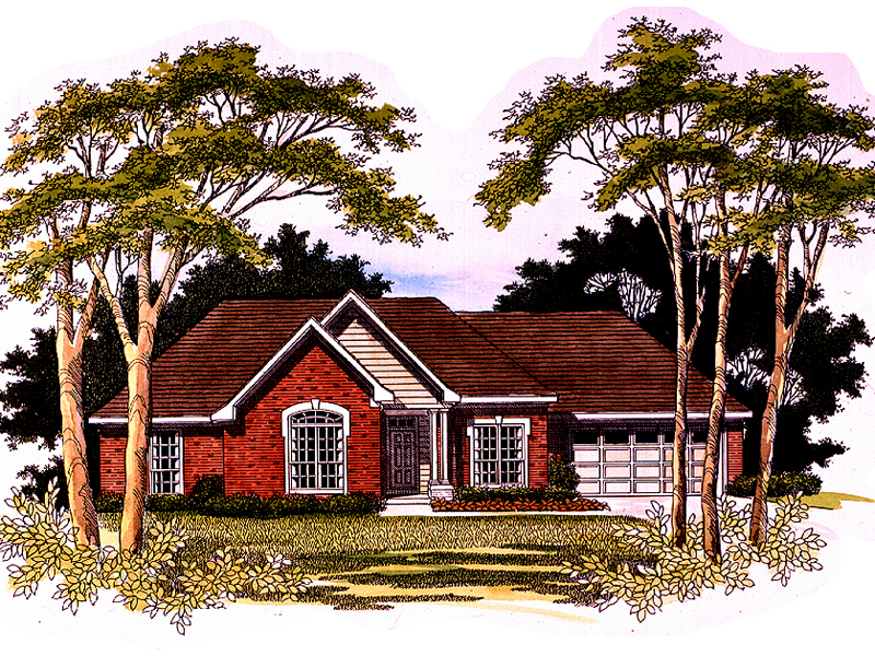 Ranch Home With Multiple Gable And Covered Porch