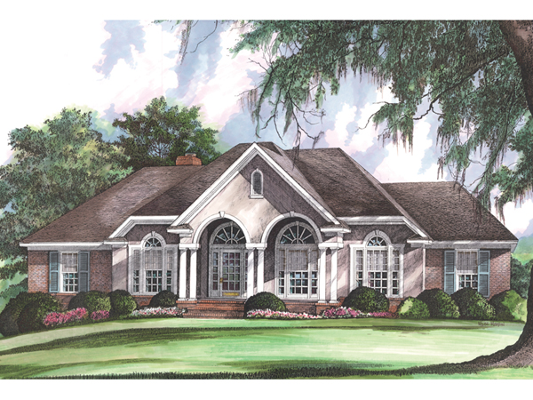 Gallatin country french home plan 019d 0013 house plans for French country ranch house plans