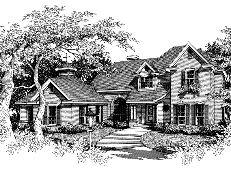 Traditional Two-Story Home With Curb Appeal