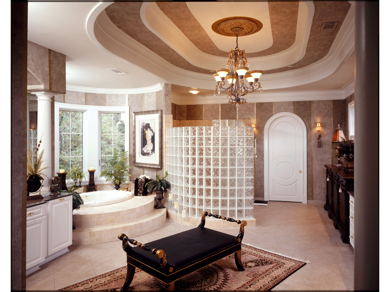 European House Plan Master Bathroom Photo 01 - 019S-0002 | House Plans and More