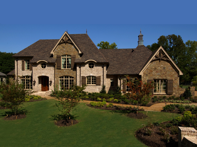 Luxury House Plan Front of Home 019S-0003