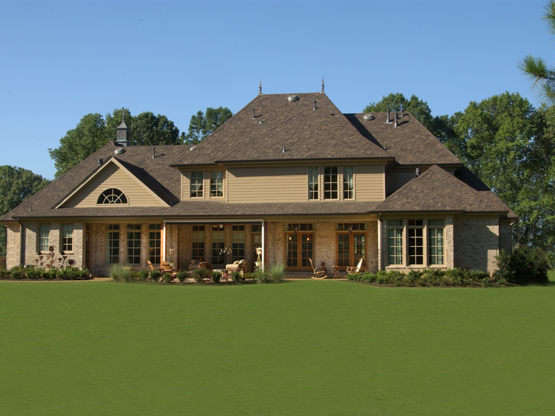 Luxury House Plan Rear Photo 01 - 019S-0003 | House Plans and More