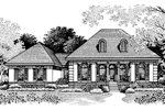 Stucco Ranch Home With Beautiful Pillared Covered Porch