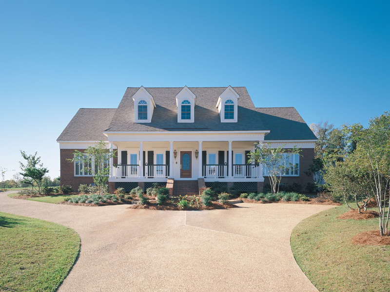 Southern Style Home With Grand Covered Front Porch