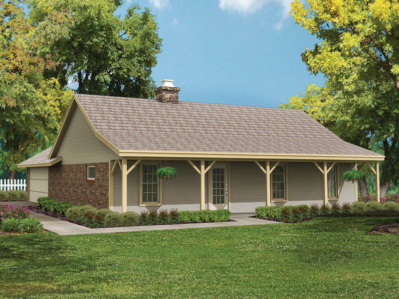 simple country style ranch home - Ranch Home Plans