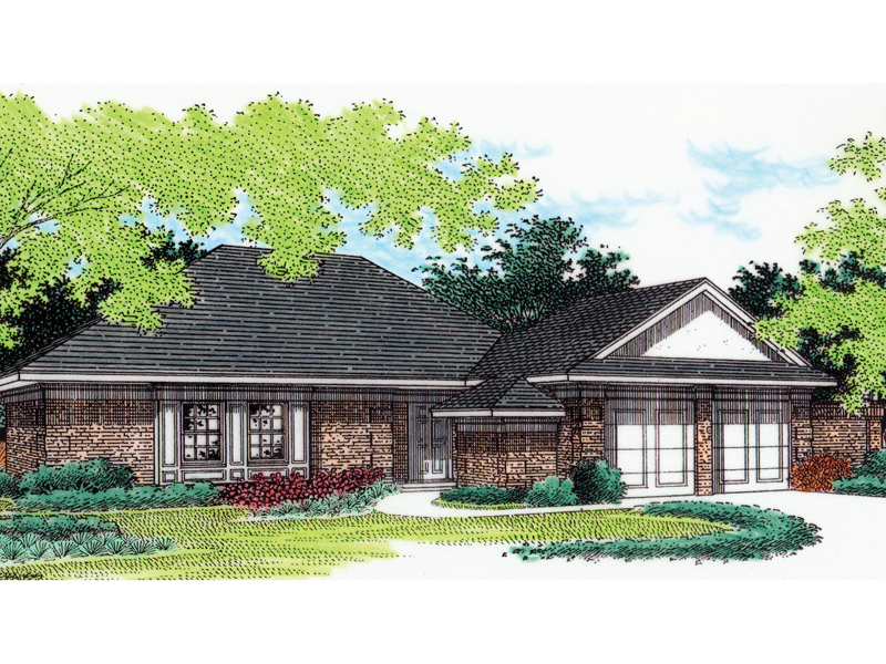 Ranch House Plan Front of Home - 020D-0026 | House Plans and More
