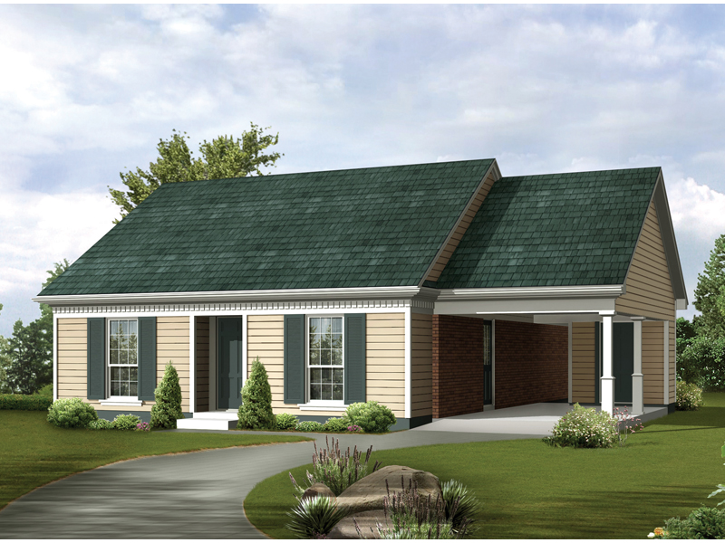 Ranch House Plan Front of Home 020D-0030