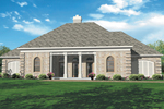 Symmetrical Brick Ranch Home With Corner Quoins