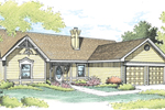 Country Style Ranch Home With Intricate Trimwork