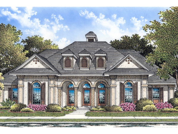 Marshall pond stucco ranch home plan 020d 0052 house for Stucco home plans