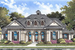 Stucco Ranch With Trio Of Dormers And Front Porch Arches