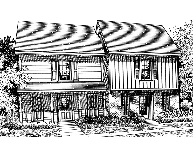 Multi-Family House Plan Front of Home - 020D-0062 | House Plans and More