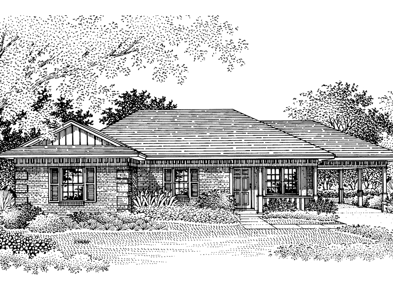Traditional Ranch Style Home With Corner Quoins