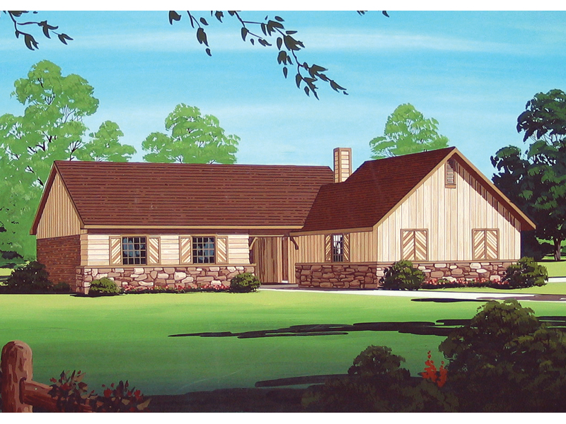 wilburn rustic ranch home house plan