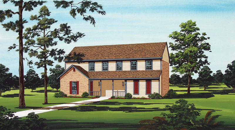 Two-Story Home With Country Style