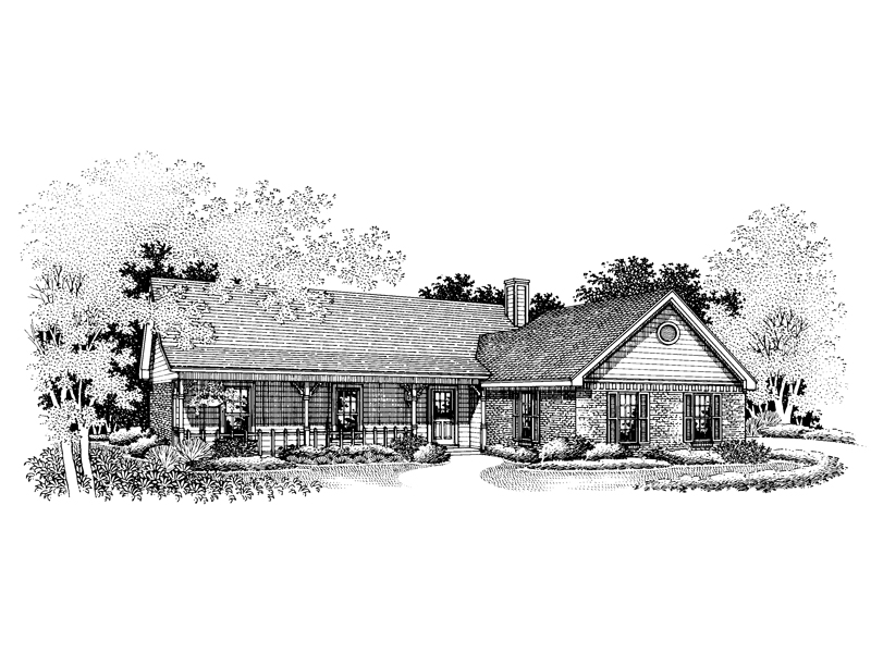 Ranch House Plan Front Image of House - 020D-0076 | House Plans and More