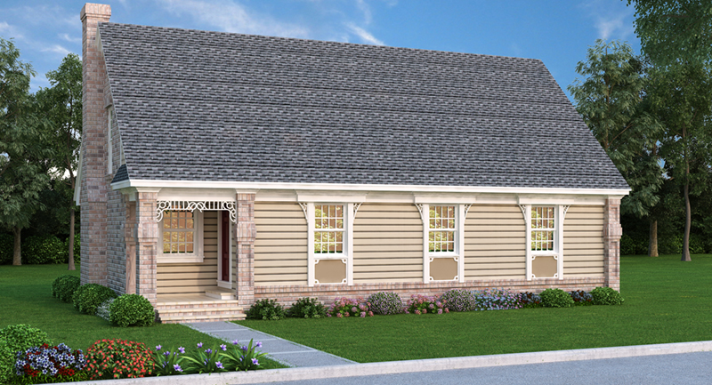 Saltbox House Plan Front of Home 020D-0079