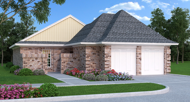Unique Ranch Home With Hidden Front Entry And Corner Quoins