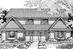 Country-Style Home With Shingle Siding On Gables