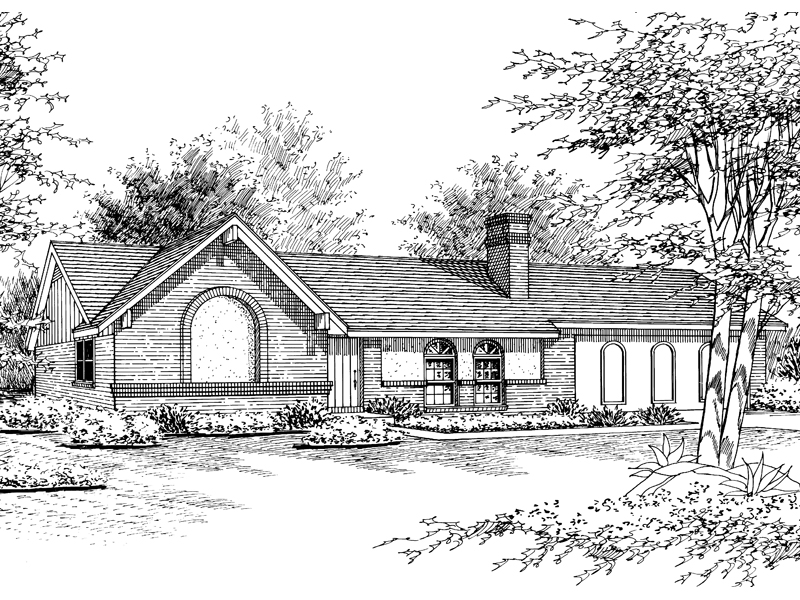 Traditional House Plan Front of Home - 020D-0088 | House Plans and More