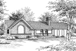 Arched Brick Details Decorate The Exterior Of This Ranch Home
