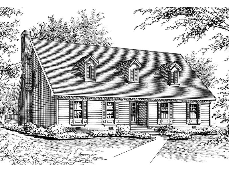 Traditional Cape Cod New England Style Cottage