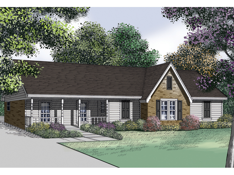 Dixieville Country Ranch Home Plan 020D 0096 House Plans