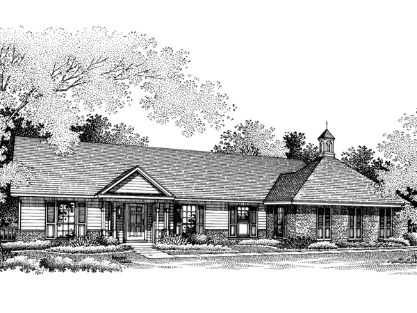 Cabot hill southern ranch home plan 020d 0097 house for Southern home and ranch