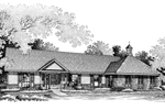Southern Ranch Plan With Stately Style