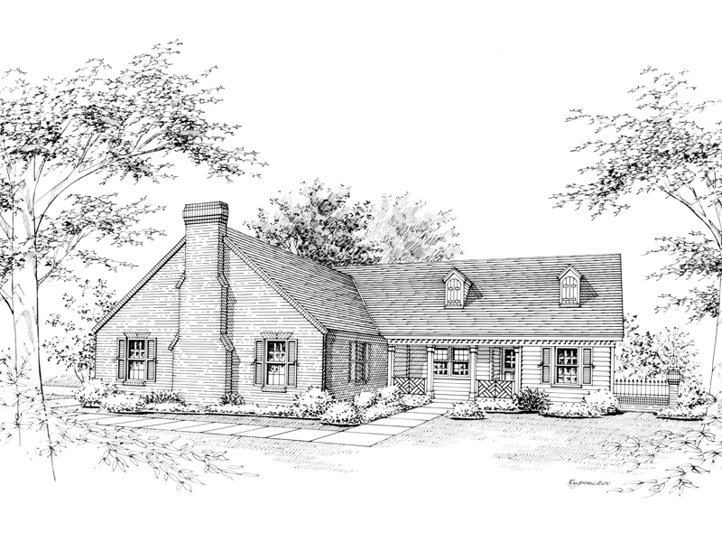 Ranch House Plan Front Image of House - 020D-0098 | House Plans and More